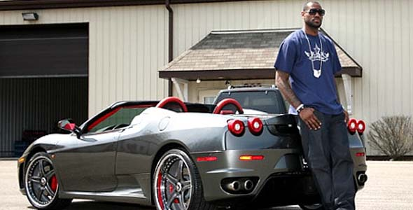 Cars owned by LeBron James -  Ferrari F430 Spider