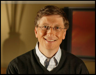 Bill Gates popular businessman
