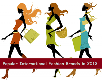 Popular international fashion brands