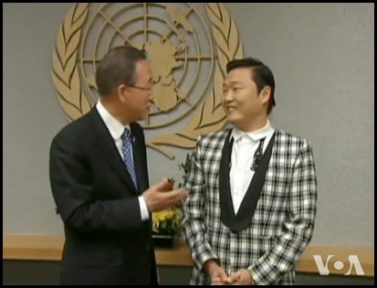 psy and ban ki-moon