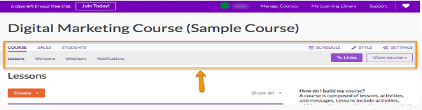 create a course - ruzuku